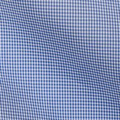 Mid Blue Ultrafine Checks Poplin