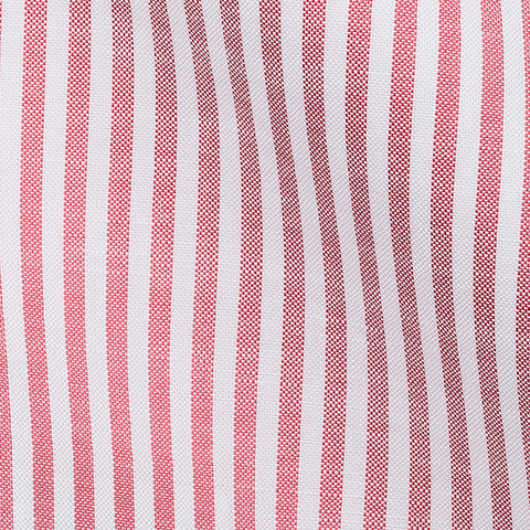 White Oxford Chambray Red Stripes 0,6