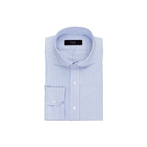 White Oxford Chambray Light Blue Stripes 0,2