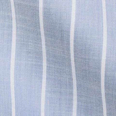 Mid Blue Oxford Chambray Stripes 2,1
