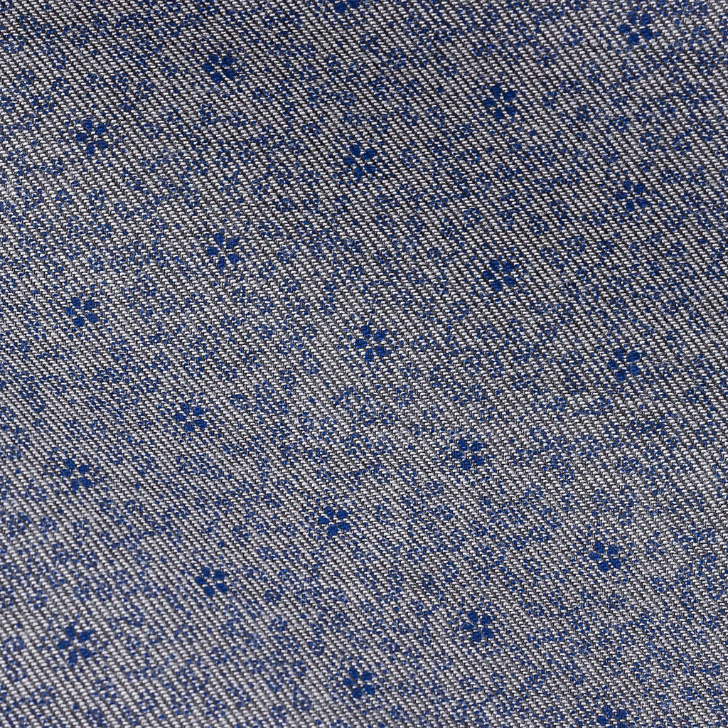 Denim Twill Micro Flower Print