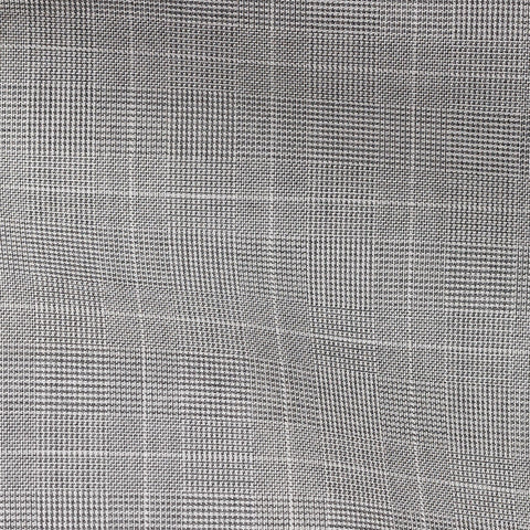 Light Grey Twill Glencheck Off White Windowpane