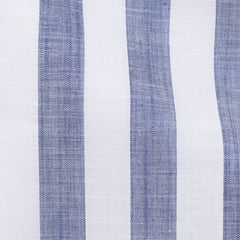 White Chambray Big Blue Stripes