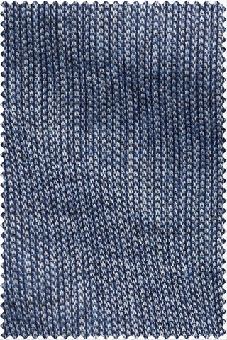 Structured Weave with Stripe Print Mid Blue