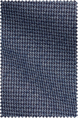 Dobby Structured Houndstooth with Mouliné Mid Blue
