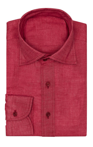 Monti Red Linen Open Weave