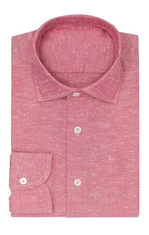 Albiate red white cotton oxford