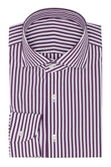white stretch cotton blend with purple stripes Inspiration