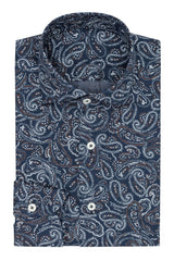 dark blue cotton flannel with paisley Inspiration