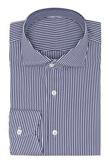 light blue stretch cotton blend with dark blue stripes Inspiration