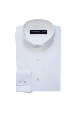 Thomas Mason soft satin poplin stretch white