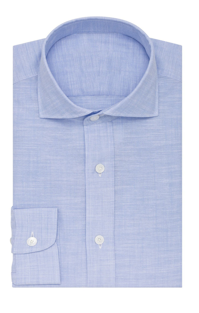 Thomas Mason zephir chambray light blue two ply cotton