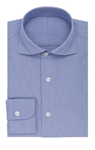 Thomas Mason oxford chambray mid blue soft denim look