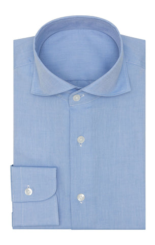 Thomas Mason oxford mid blue two ply cotton