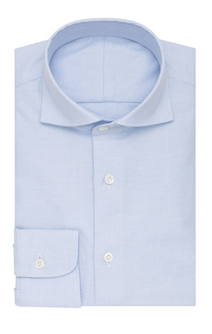 Thomas Mason oxford stretch light blue