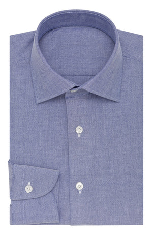 Thomas Mason oxford stretch dark blue