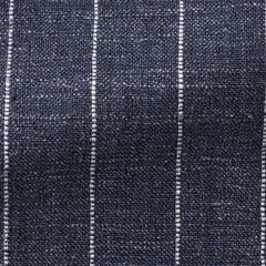 Ferla-slate-blue-striped-melange Fabric