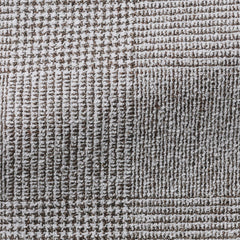 Ferla-mid-brown-textured-glencheck Fabric