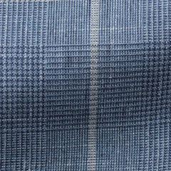 Solbiati-pale-blue-linen-wool-silk-glencheck-beige-windowpane Fabric