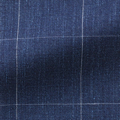 Solbiati-slate-blue-linen-wool-silk-fine-windowpane Fabric