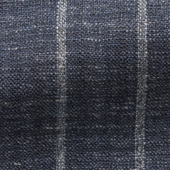 Ferla-indigo-blue-silk-linen-blend-with-bold-chalk-stripe Fabric