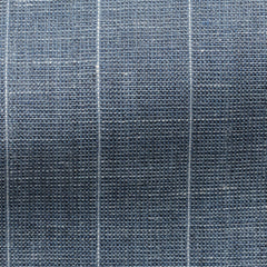 Solbiati-slate-blue-linen-wool-silk-with-white-pinpoint-stripe Fabric