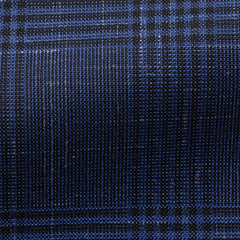 VBC-royal-blue-tropical-wool-linen-with-black-glencheck Fabric