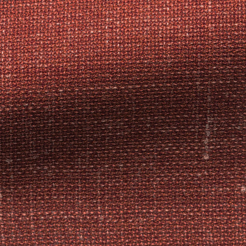 Barberis Canonico Rustic Orange Wool Silk Linen Mesh