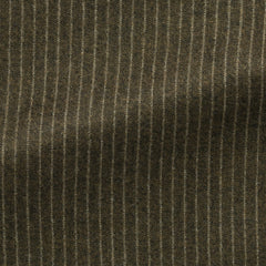 Marzotto-sage-green-brushed-s110-wool-with-white-pinstripe Fabric