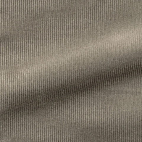 Pontoglio Mid Grey Cotton Fine Ribbed Corduroy