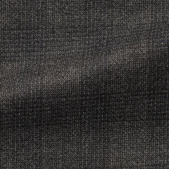 Drago-dark-grey-brushed-s130-wool-with-white-stippling-and-check Fabric