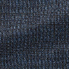 Drago cobalt black brushed s130 wool with white stippling and check
