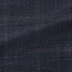Loro-Piana-midnight-blue-wool-silk-cashmere-with-subtle-burgundy-check Fabric