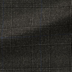 Loro-Piana-dark-grey-brushed-wool-with-subtle-blue-windowpane Fabric