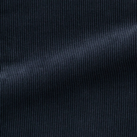 Pontoglio navy blue cotton fine ribbed corduroy