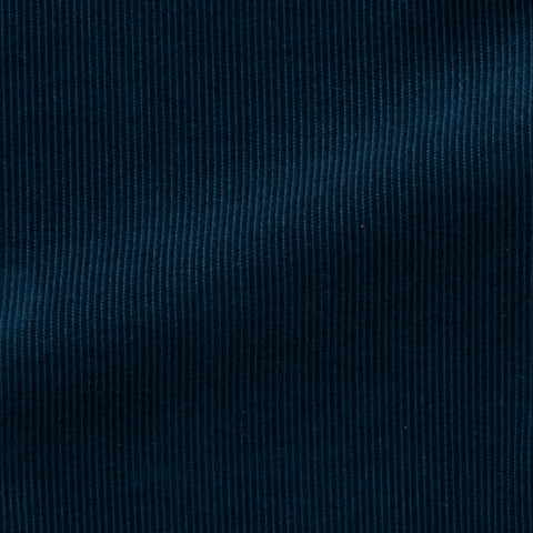 Pontoglio prussian blue cotton fine ribbed corduroy