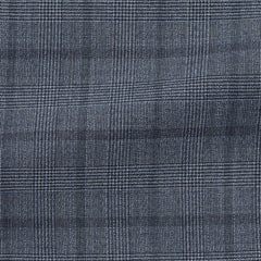 blue-mélange-wool-with-fine-black-glencheck-BB220gr Fabric