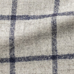 Ferla-light-grey-alpaca-and-wool-blend-with-dark-blue-windowpane Fabric