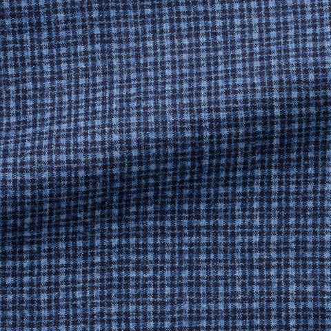 VBC light blue dark blue wool silk linen with fine check