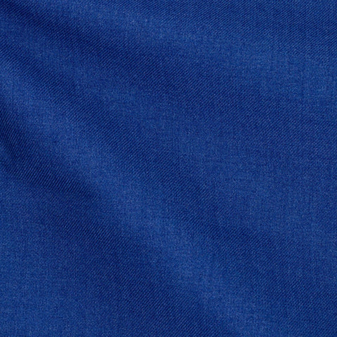 E. Thomas Mid Blue Twill Wool Silk Cotton