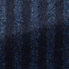 Loro-Piana-dark-blue-mid-blue-stripes-with-alpaca-bouclé Fabric