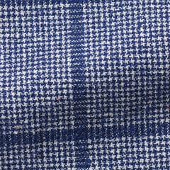 Ferla-royal-blue-white-houndstooth-with-royal-blue-windowpane Fabric