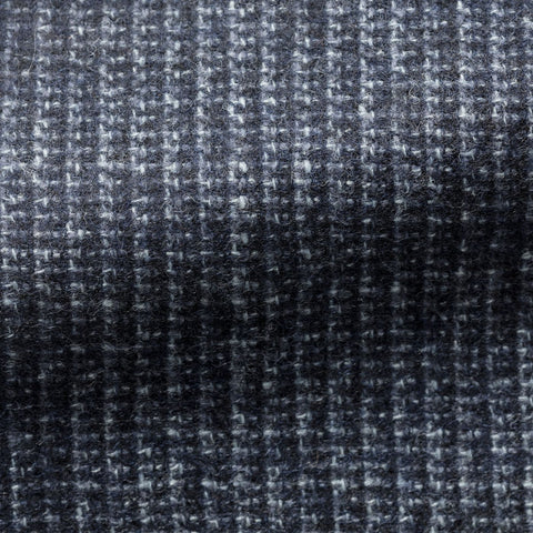 Ferla slate blue striped wool alpaca