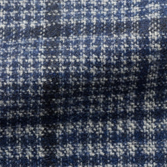 Ferla-blue-wool-alpaca-glencheck-with-dark-blue-windowpane Fabric