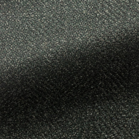 Loro Piana forest green wool silk herringbone