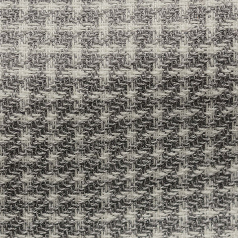 Angelico Mid Grey Wool Linen with White Modern Check