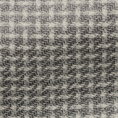 Pontoglio-mid-grey-wool-linen-with-white-modern-check Fabric