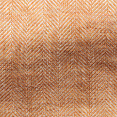 Solbiati-orange-linen-herringbone Fabric