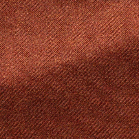 fire orange brushed wool silk twill