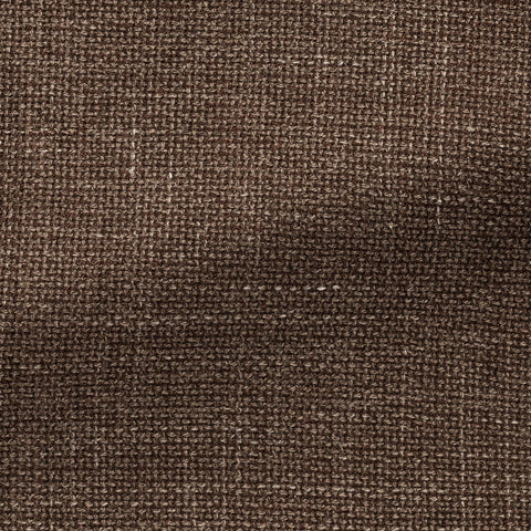Angelico Coffee Wool Linen Blend Mesh